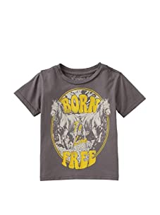 Lords of Liverpool Kid's Born to Live Free T-Shirt (Grey)