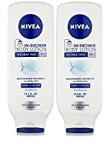 Nivea In Shower Body Lotion Sea Minerals Hydrating 24 Hour Moisture For Normal To Dry Skin Net Wt. 13.5 Fl Oz (400 M L) Each Pack Of 2