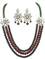 Kundan Multi Strings Stylish Necklace Set For Women by Shining Diva
