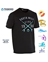 Tribord-Water Tshirt / Rash Guard for swimming, Surfing & Water sports - Relaxed fit, XXL