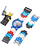 LEGO Kids 4291329 City Policeman Watch with Link Bracelet and Figurine