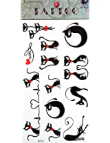 Ggsell Ggsell King Horse Hot Selling New Design Cartoon Cat Temporary Tattoo Stckers