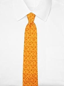 Hermès Men's Wilderness Tie (Orange)