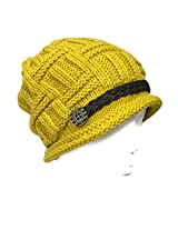 Wrapables Knitted Slouched Ski Cap, Mustard, Mustard