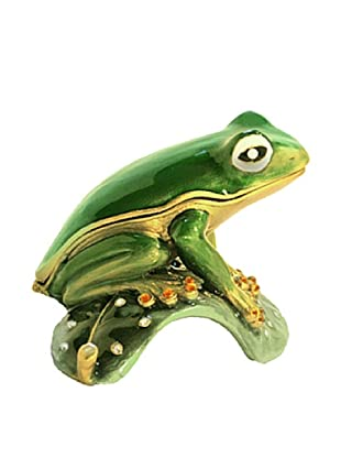 Ashleigh Manor Hand-Painted Collectible Frog Enameled Box
