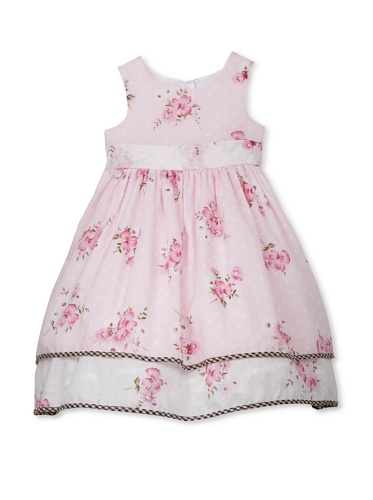 Laura Ashley Girl's Floral Twin Print Hangout (Pink/White)