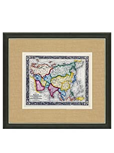 """Mitchell-Antique Map of Asia, 1860's-1870's, 21"""" x 23"""""""