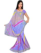Kala Sanskruti Chiffon And Art Silk Leheriya Design Saree With Work [KSA3XI-50_Multi]