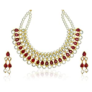 Zaveri Pearls Classic Pearl Necklace Set for Women-ZPFK395