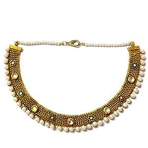Daamak Jewellery Alluring Choker Necklace -Pearls
