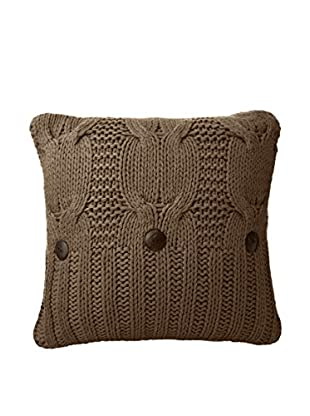 Amity Home  Michaela Knitted Pillow, Walnut Brown