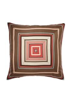 Mystic Valley Traders Bullseye Pillow (Brown/Multi Stripe)