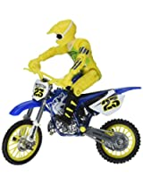 Hot Wheels Moto X No.23 Rider with Blue Bike Figure Blue and Yellow