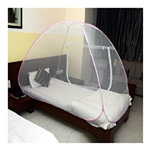 Classic Single Bed Mosquito Net-Pink