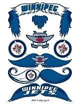 StacheTATS Winnipeg Jets Temporary Mustache Tattoos