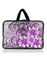 "Purple flowers 6"" 7"" 7.85"" inch tablet Case Sleeve Carrying Bag Cover with handle for Apple iPad mini/Samsung GALAXY Tab P3100 P6200/Kindle Paperwhite/Kindle Touch/Kindle fire/Kindle fire HD 7 inch/Acer Iconia A100/Google Nexus 7/Noble NOOK Color"