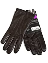 Isotoner All Over Sensortouch Leather Gloves (8.0, Brown)