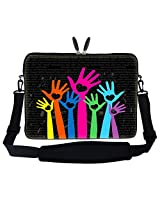 Meffort Inc 17 17.3 inch Laptop Sleeve Bag Carrying Case with Hidden Handle and Adjustable Shoulder Strap - Loving Heart Design