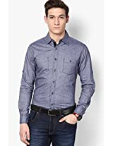 Solid Light Blue Casual Shirt