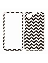 Cell Armor Snap-On Cover for BlackBerry A10/Z30 - Retail Packaging - Black/White Waves