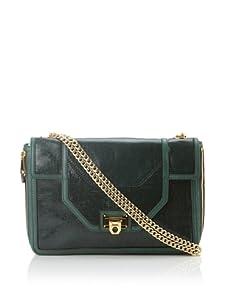 Rebecca Minkoff Women's Allie Convertible Handbag with Expanding Zippered Gussets (Emerald)