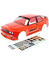 Hpi 1/10 Rs4 Sport 3 4 Wd Drift * Bmw M3 E30 Orange Body & Decals * Cover Shell