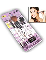 5 Pcs Luxurious Functional Make Up Brush Cosmetic Set Kit Case - MK BR 04