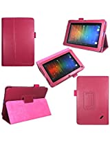 i-design Acer Iconia B1 7 inch Tablet (B1-A71) Premium Leather Case with Flip Stand, Stylus Loop and Wake/Sleep Function (Acer B1, Magenta)