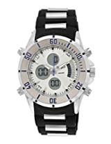 Maxima Ego Analog-Digital Silver Dial Men's Watch - E-35101PAAN