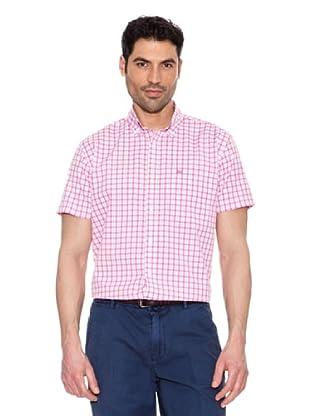 Pedro Del Hierro Camisa Cuadros (Rosa)