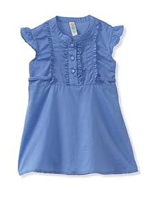 KANZ Girl's Woven Tunic (Blue)