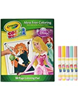 Color Wonder:Disney Princess Coloring Book and Markers Includes 5 Markers & 18 Coloring Pads, Qty 1