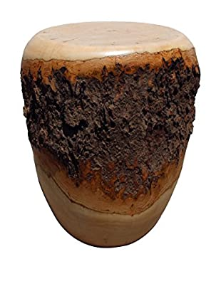Asian Art Imports Natural Bark Stool