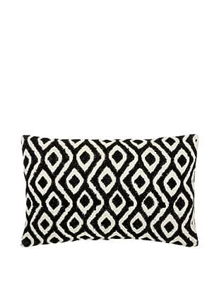 Mela Artisans Reva Silk Lumbar Pillow, Black