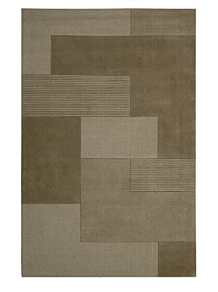 Calvin Klein Bowery GRID Rectangle Rug (Pebble)