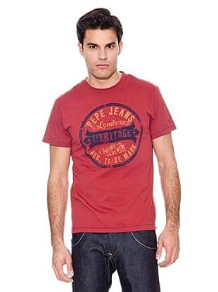 Pepe Jeans London Camiseta Hamsey (Rojo)