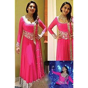 Ninecolours NC256 Madhuri Dixit Anarkali Suit - Pink