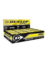 Dunlop Squash Ball Double Dot Ball (Black)