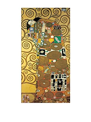 Artopweb Wandbild Klimt Embrace 51x100 cm mehrfarbig