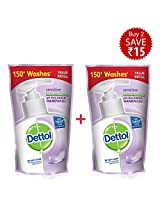 Dettol Sensitive Liquid Soap Refill Pouch - 2x185 ml (Rupees 15 Off)