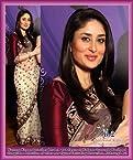 Kareena Kapoor Black Bolllywood Saree