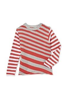 Kicokids Boy's Bias Stripe Long Sleeve Sweater (Francois)