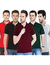 Concepts Men's Casual Shirt (TSHT_C5_BKRDBGMRGY_Multi_38)