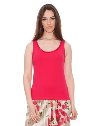 Diktons Camiseta Aplicación Escote (Fresa)
