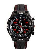 Grand Touring Men's Black Dial Analog Sports Watch