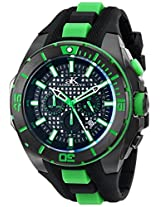 Adee Kaye Men's AK6367-M/GN Axes Collection Analog Display Japanese Quartz Green Watch