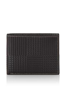 Joseph Abboud Men's Plaid-Embossed Passcase Wallet (Brown)