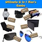 Doux Devils Combo Of Men's Accessories With Wallet Watch And Aviator Sunglasses