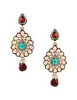 Ethnic Indian Artisan Jewelry Set Pretty Dangler EarringsBAEA0354MG