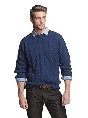 Oxxford Men's Pullover Sweater (Blue)